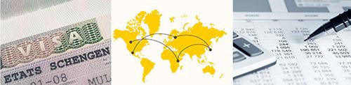 Luxreisen organisiert Visa, Zolldokumente und Reiseversicherungen